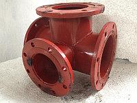Тройник фланцевый с пожарной подставкой стальной (ППТФ) Д. 200/150  мм