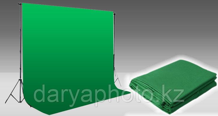 Фон студийный (матерчатый). Тканевый фон для фотостудии. Зеленый
