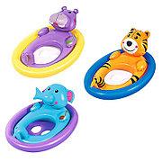 Детский надувной круг - плотик с отверстиями для ног, Bestway 34058
