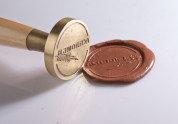 Металлическая печать, штамп под сургуч (пломбир под сургуч)