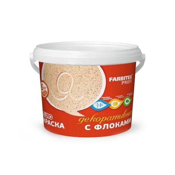 Краска акриловая декор. с флоками кофе с молоком КМ-1 12 кг FARBITEX ПРОФИ