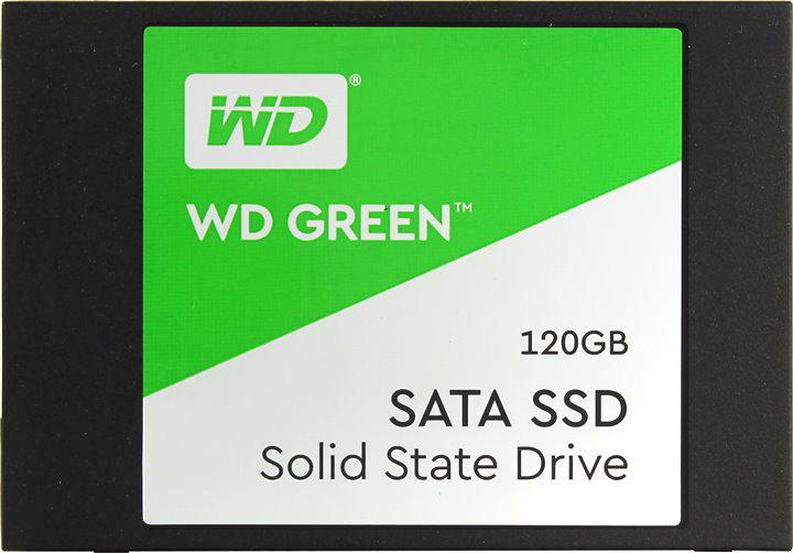 Жесткий диск внутренний Western Digital (WD) GREEN (120 Гб, SSD, 2,5″, Для ноутбуков, SATA) WDS120G2G0A