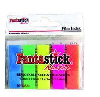 Закладки клейкие FantaStick пластиковые 5 цв х 25 шт