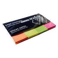 Закладки клейкие INDEX бумажные  4 цв х 40 шт