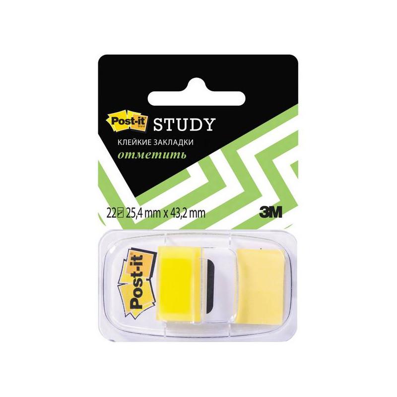 Закладки клейкие POST-IT 25,4 х 43,2 мм  желтые