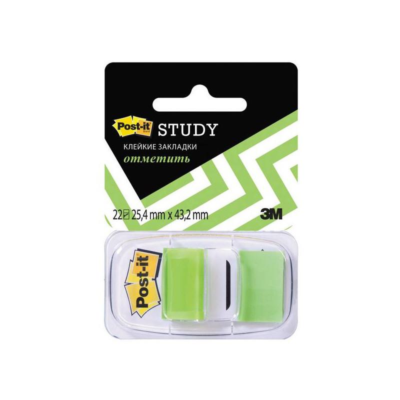 Закладки клейкие POST-IT 25,4 х 43,2 мм  зеленые