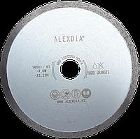 Сплошной алмазный диск по граниту 230 мм. ALEXDIA