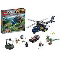 Игрушка Jurassic World Погоня за Блю на вертолёт