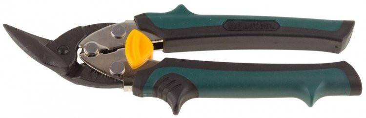 """Ножницы KRAFTOOL """"UNI-KRAFT"""" по твердому металлу,Cr-Mo, двухкомпонентная ручка, левые, 180мм"""