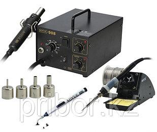 AOYUE INT908+ Ремонтная термовоздушная паяльная станция с паяльником и держателем фена