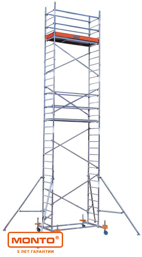 Алюминиевая вышка-тура, раб. высота 12,3 м. KRAUSE PROTEC