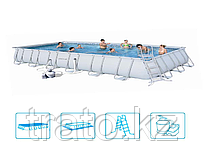 Каркасный бассейн Bestway 671х366х132 песочный фильтр