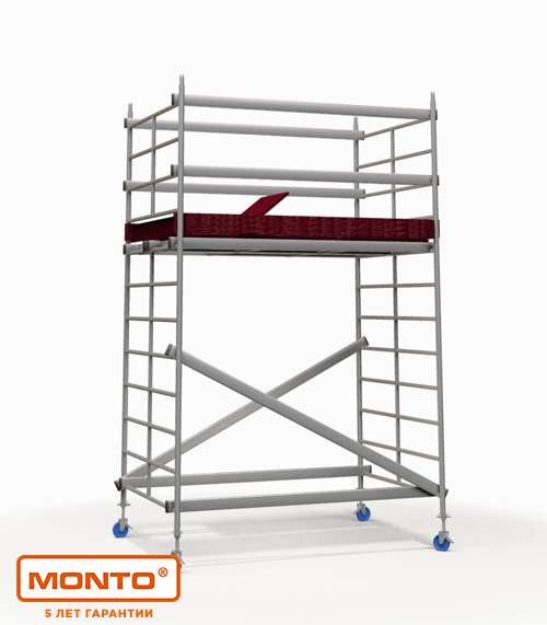Алюминиевая подмости-платформа, раб. высота 2.9 м KRAUSE MONTO PROTEC XS-P