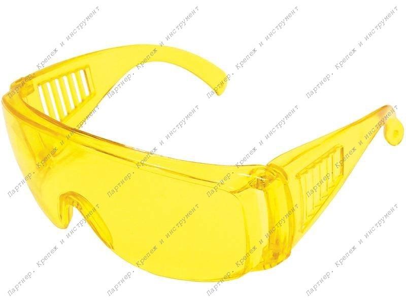 (12220) Очки защитные желтые с дужками..