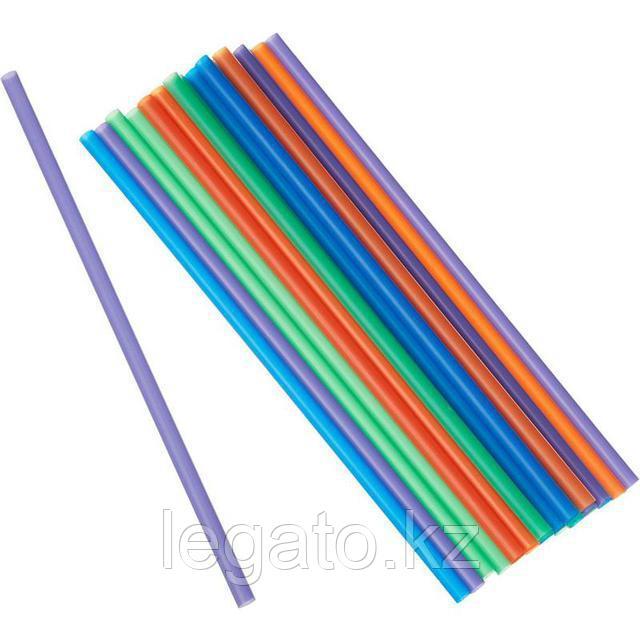 Трубочки д/коктейля 5*240 цветные прямые 1000шт/уп 12уп/кор