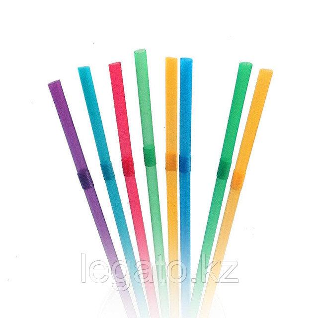Трубочки д/коктейля 5*240 цветные с гофрой 1000шт/уп 12уп/кор