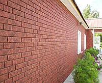 Цокольный сайдинг Ю-Пласт Stone House кирпич красный