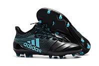 Футбольные бутсы Adidas X 17.1 Leather FG Blue/Black 39-43