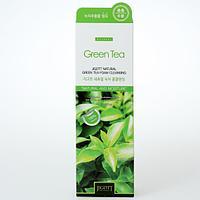 Jiggot Natural Green Tea Foam Cleansing-Очищающая пенка с экстрактом зеленого чая