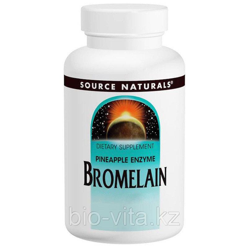 Source Naturals, Бромелаин, 2000, 500 мг, 60 таблеток