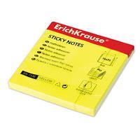 Клейкие листки ERICH KRAUSE 75х75 мм, желтые, 100 листов