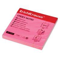 Клейкие листки ERICH KRAUSE 75х75 мм, розовые, 100 листов