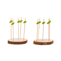 Набор аперитив из бамбука 17 предметов