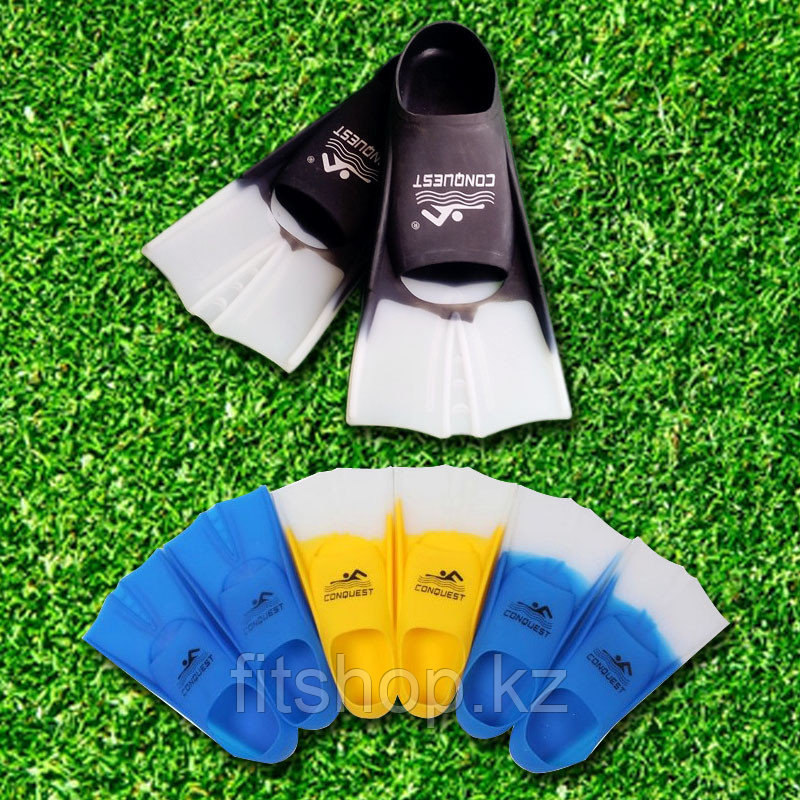 Ласты для плавания в бассейне короткие тренировочные (размеры  и цвета в ассортименте)