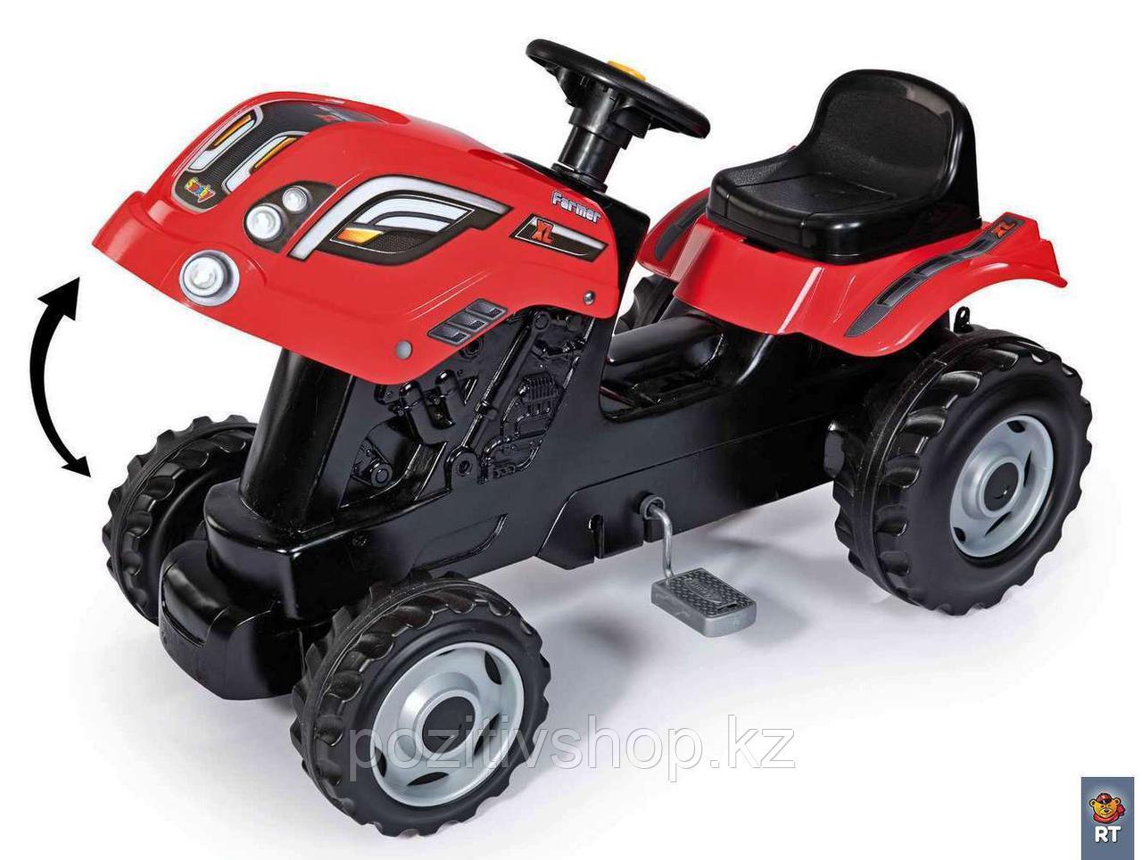 Детский педальный трактор Smoby XL с прицепом - фото 3