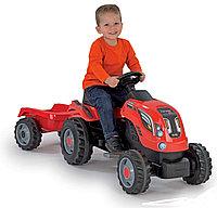 Детский педальный трактор Smoby XL с прицепом 710108, фото 1