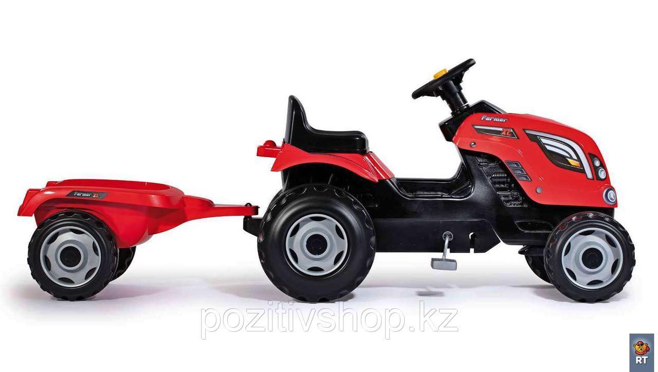 Детский педальный трактор Smoby XL с прицепом - фото 5