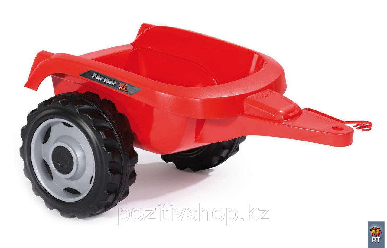 Детский педальный трактор Smoby XL с прицепом - фото 7
