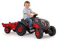 Детский педальный трактор Smoby XXL с прицепом