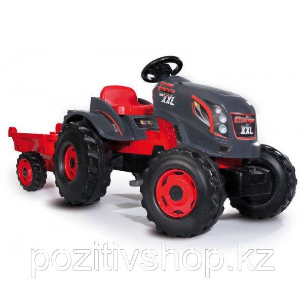 Детский педальный трактор Smoby XXL с прицепом - фото 2