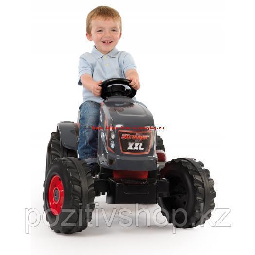 Детский педальный трактор Smoby XXL с прицепом - фото 3