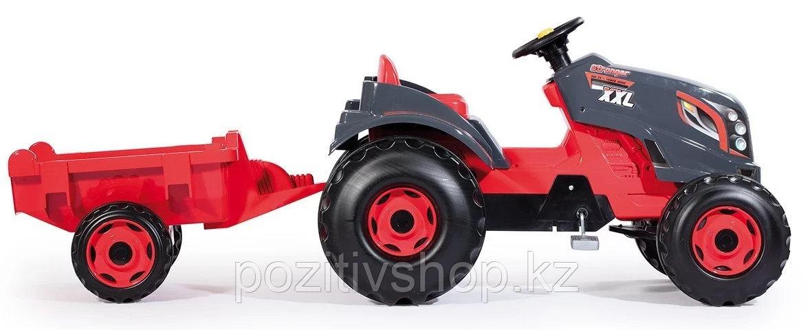 Детский педальный трактор Smoby XXL с прицепом - фото 5