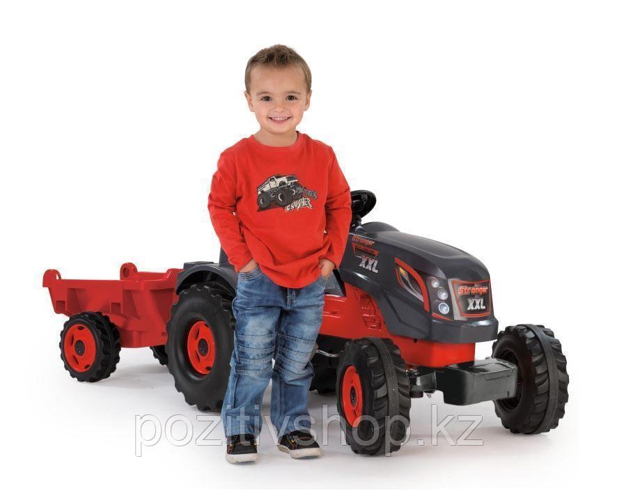 Детский педальный трактор Smoby XXL с прицепом - фото 6