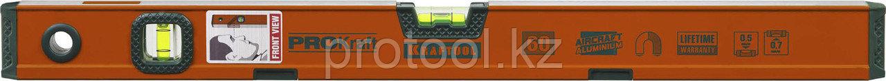 """Уровень KRAFTOOL """"KRAFT-MAX"""" магнитный, особо усилен, 2 ампулы, 2 фрезерованные базовые поверхности, 80см"""