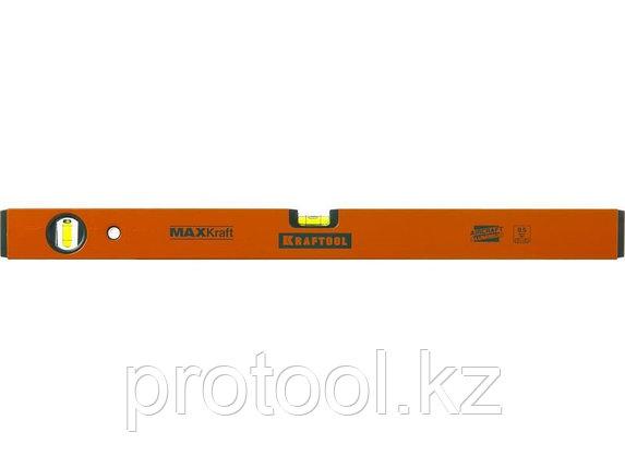 Уровень KRAFTOOL коробчатый усиленный, точность (0,5мм/м), 2 ампулы, 120 см, фото 2