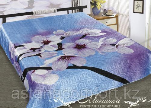 """Шелковое 2-спальное покрывало """"Цветение"""" Marianna, размер 230х 250 см с 2 наволочками (50х70см)"""
