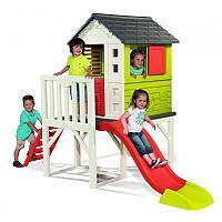 Детский домик на сваях с горкой Smoby, фото 1