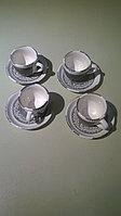Набор из 6 кофейных пар «DOILY» цвет серый