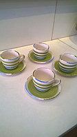 Набор из 6 кофейных пар «FRESH» цвет зеленый