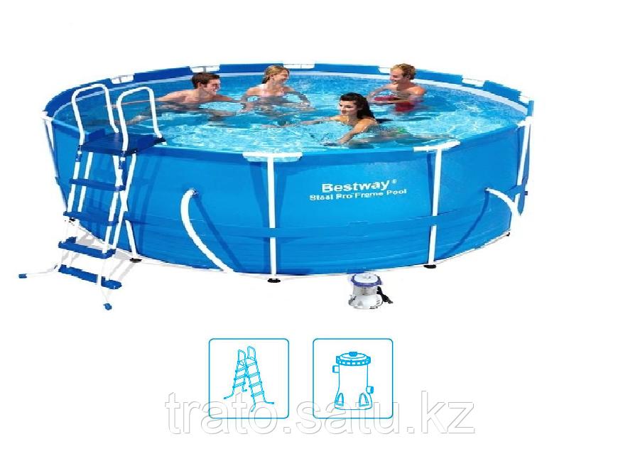 Каркасный бассейн Bestway 366х100см с картриджным фильтром