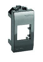 DKC 77607N Адаптер для информационных разъемов Keystone, черный, 1мод.