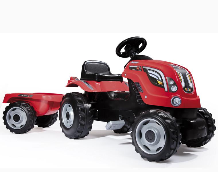 Трактор педальный XL с прицепом, 142*44*54,5см арт. 710108 - фото 1