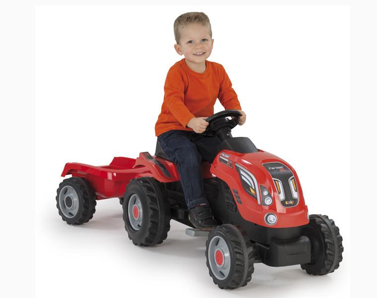 Трактор педальный XL с прицепом, 142*44*54,5см арт. 710108 - фото 2