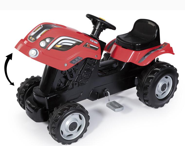Трактор педальный XL с прицепом, 142*44*54,5см арт. 710108 - фото 3