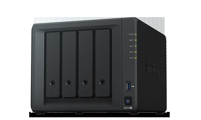 Сетевой RAID-накопитель Synology DS418 4xHDD NAS-сервер для дома и бизнеса