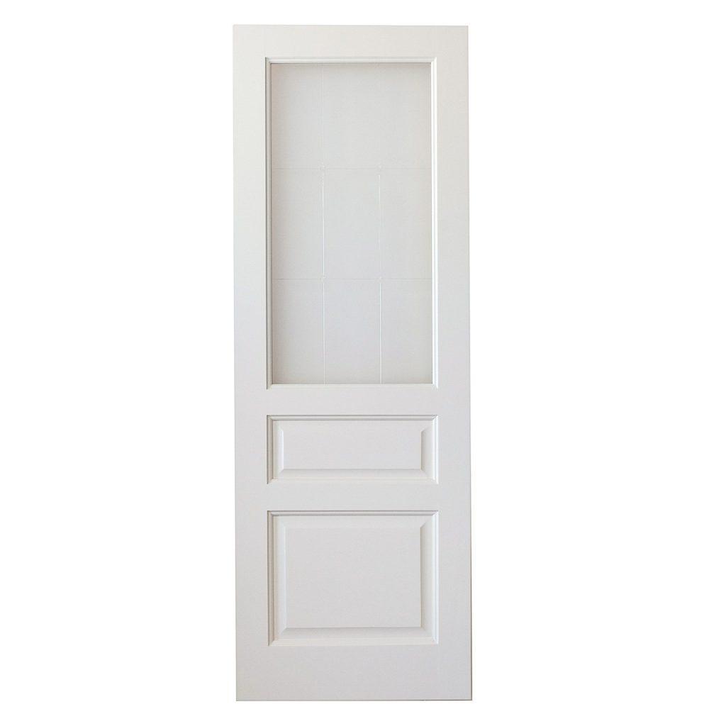 Межкомнатная дверь из массива сосны Модель 5 белый ДО